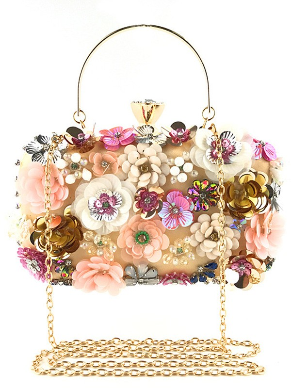 Fashion Satin Evening/Casual Bags With Flowers