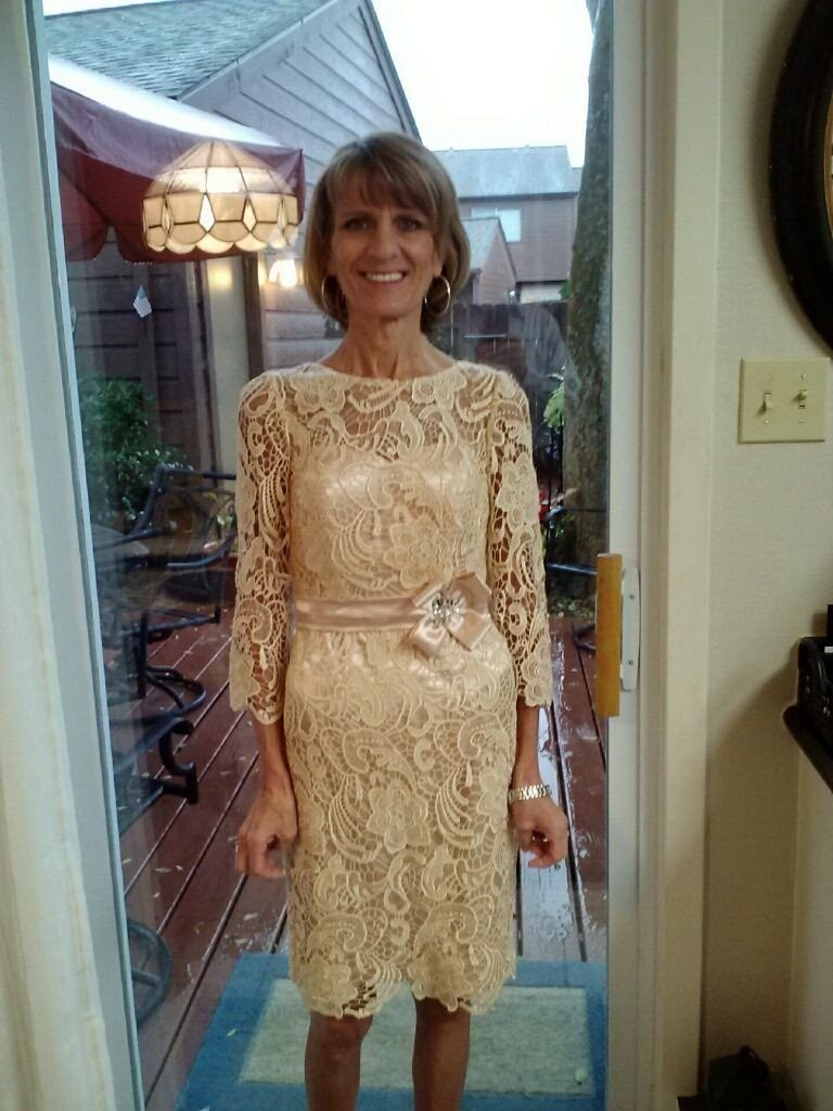 Gold Mother of the Bride Dresses Tea Length