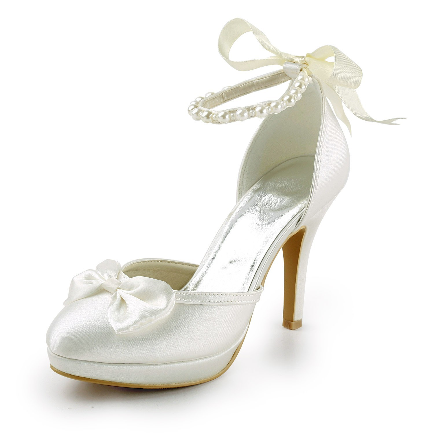 c0d57315169 satin spool heel closed toe platform pumps wedding shoes with bowknot imitation pearl ribbon tie.jpg