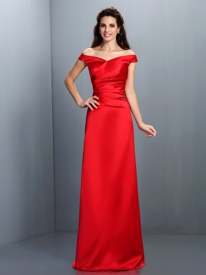 Sheath Off-the-Shoulder Floor-Length Chiffon Party Dress