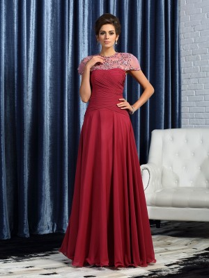 A-Line Sweetheart Chiffon Ruched Floor-Length Mother of the Groom Dress