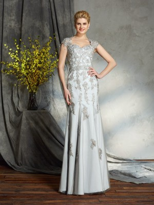 Sheath Sweetheart Satin Floor-Length Mother Of The Bride Gowns