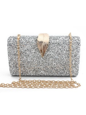 Luxurious Synthetic Leather Party Handbags