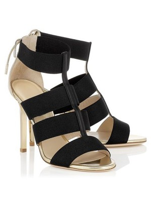 Women's Stiletto Heel Suede Peep Toe With Lace-up Sandal Shoes