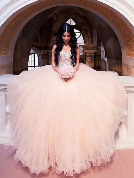 Ball Gown Tulle Sweetheart Sweep/Brush Train Wedding Dress