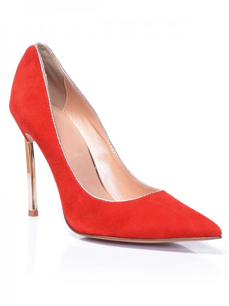 Red Suede High Heels S5MA0381LF