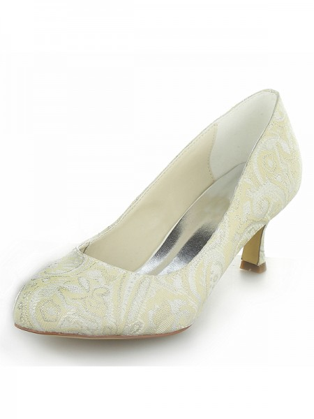 Satin PU Spool Wedding Shoes SW01403111H1I
