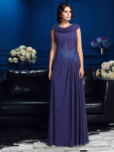 A-Line/Princess Pleats Mother of the Bride Dress with Long Chiffon