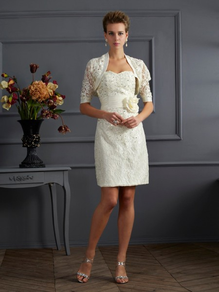 Elegant Lace Short Sleeves Special Occasion Wrap