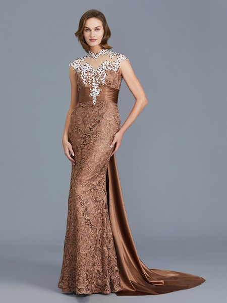 Trumpet/Mermaid Scoop Lace Floor-Length Mother of the Bride Dress