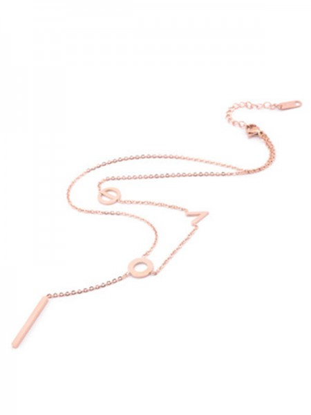 Korean Lovely Titanium Necklaces For Women