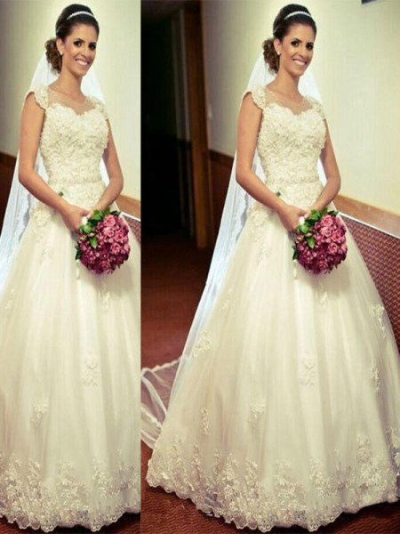 Ball Gown Tulle Floor-Length Sweetheart Wedding Dress
