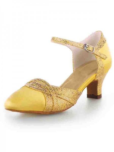 Satin Chunky High Heels SW115009621I